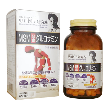 GLUCOSAMINE WITH MSM 360 tablets (Good for 30 days)  |MSM配合グルコサミン 360粒 30日分