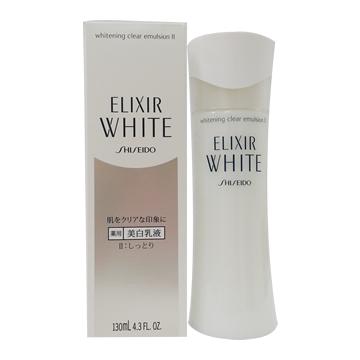 エリクシール ホワイト クリアェマルジョンⅡ 薬用美白乳液 しっとり 130ml
